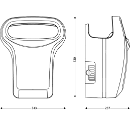 JVD-EXP EXP'air kézszárító méretek