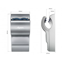 DS-AB14 Airblade dB kézbedugós kézszárító méretek
